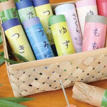 【月、海、雨、竹・・和の香り】やわらぎお香コーン&スティック
