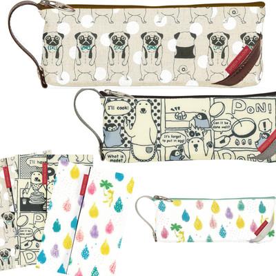 【かわいい布製♪日本製】動物ペンケース・ブックカバー2016(クマ・カエル・ウサギ)