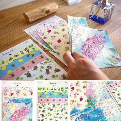【cozyca products日本製越前和紙】レオレオニ千代紙