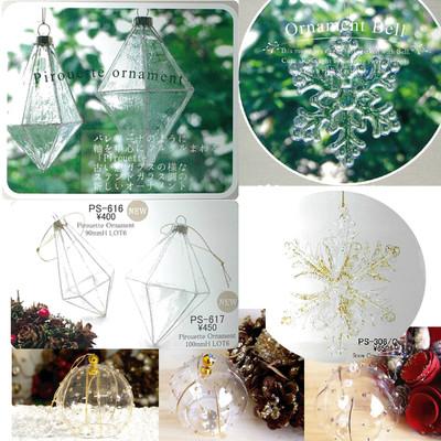 【素敵なクリスマス☆】ガラスオーナメント吊り下げ式