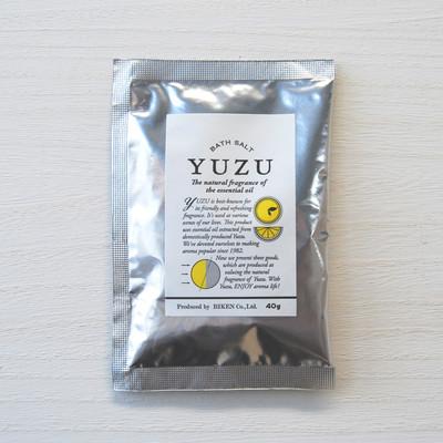 【高知県産ユズ精油使用】YUZUシリーズバスソルト【オーガニック認定オイル配合】
