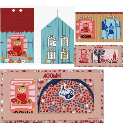 【北欧雑貨ムーミン】ギフトボックス入りタオルセット&ポーチ