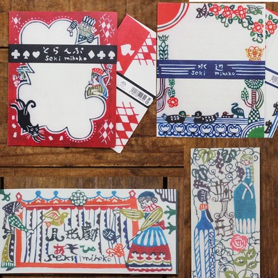 【cozyca products】【日本製美濃和紙】関美穂子 レターセット&一筆箋