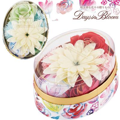 【Days in Bloom】ローズ・ガーデニアの花モチーフ バスセット(バスボム&フラワー)