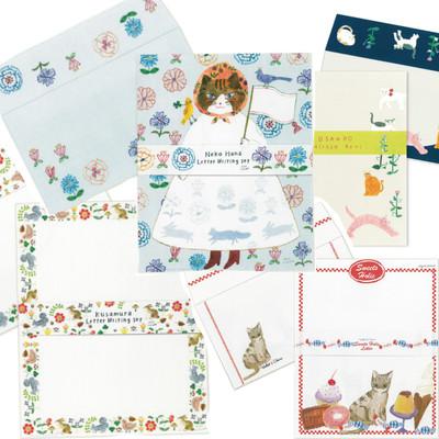 【cozyca products】猫などかわいいデザイナーズレターセット Subikawa・西淑Hirose Beni・Aiko Fukawa