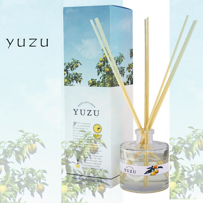 日本製【高知県産ユズの精油使用】YUZU消臭リードディフューザー