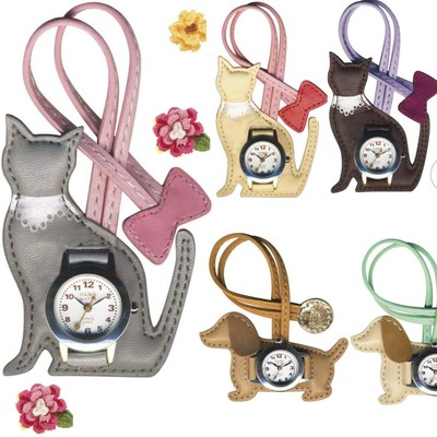 【人気のハングウオッチ】ネコ&ダックスフンド 犬や猫のかわいい時計