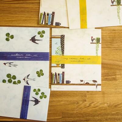 【cozyca products日本製美濃和紙】浅野みどりレターセット