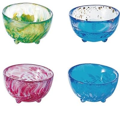 【津軽びいどろ・・日本の美しいガラス器】新年の御祝いにも 盃