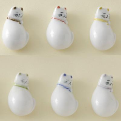 【有田焼】箸置き 六猫
