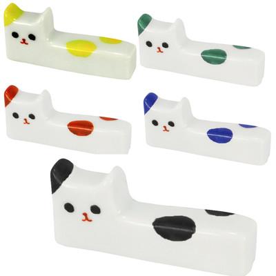 日本製有田焼【ネコ】ねこ角箸置き