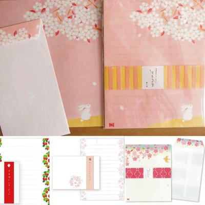 【桜 日本製】美濃和紙 レターセット&一筆箋 ときつづり 桜 春
