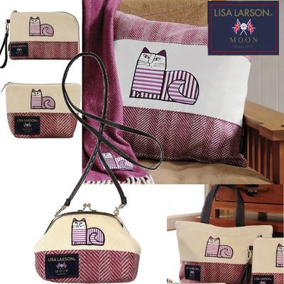 【英国老舗MOON×リサラーソン】LISA LARSONクラシックキャット ショルダーポーチ&バッグ&クッションカバー