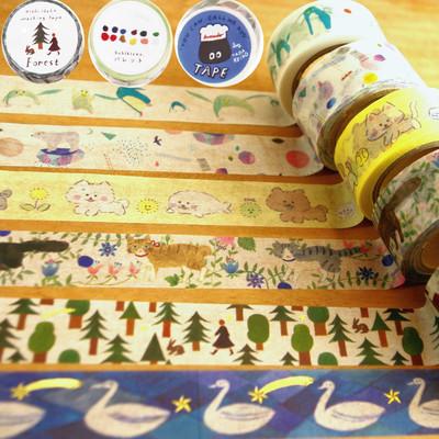 【cozyca products】猫などかわいいデザイナーズマスキングテープ Subikawa・西淑・Aiko Fukawa
