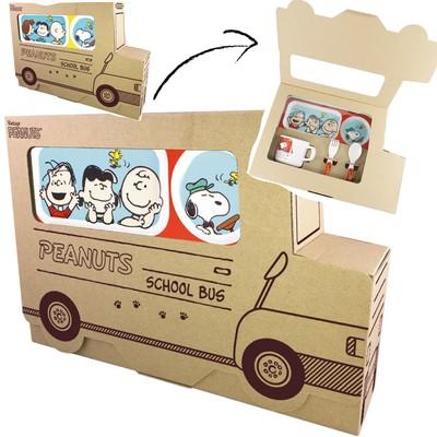 【SNOOPY PEANUTS 】バス型でかわいい!メラミン食器セット
