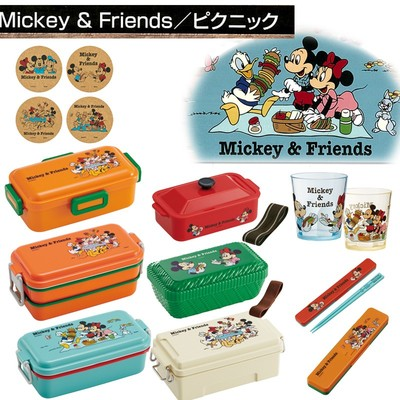 【ミッキー&フレンズ】箸&ランチボックス ピクニックシリーズ