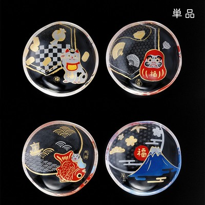 日本製【めでたmono】招き猫&富士山 豆皿