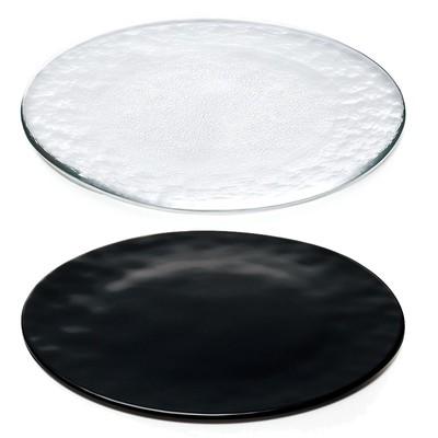【FLAT】ハンドメイドのシンプルプレート クリア&ブラック