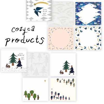 【cozyca products】西淑 美濃透かし和紙入りデザイナーズブロックメモ