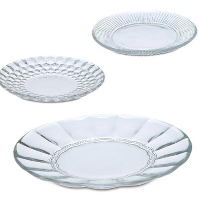 ガラス皿 小皿 デザート【グラスプレート】