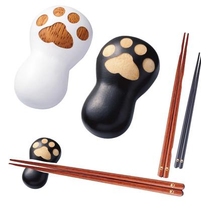 【にくきゅう♪】ネコにくきゅう 箸置き&箸