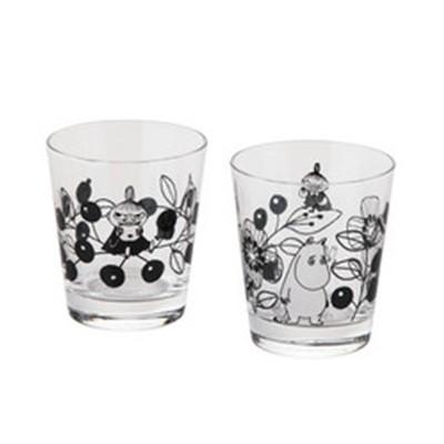 日本製【北欧雑貨ムーミン】ムーミンバレー 木箱入りペアグラスセット