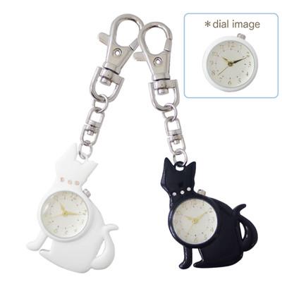 【ネコ時計】マロンキーチェーン時計