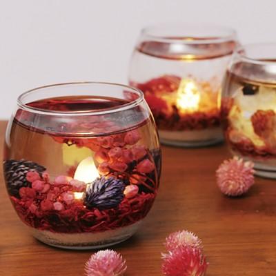 【可憐な花や実を閉じ込めたジェルライト】ルミナスフラワーフレグランスジェルライト