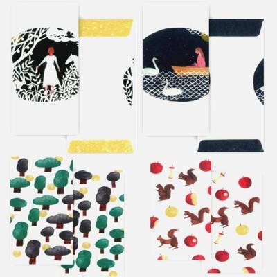 【cozyca products】日本製 西淑 のし袋ぷち袋 金シルクの組み合わせが上品なかわいいアイテム