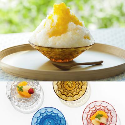 日本の美しい季節の器 デザート硝子器