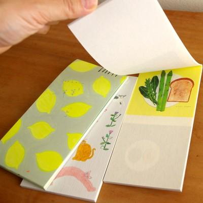 【日本製美濃和紙一筆箋】デザイナーズのかわいいお手紙一筆箋 西淑&katakata&Subikiawa
