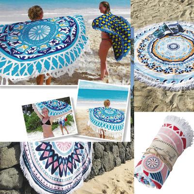 ラウンドタオル】トルコ製ラウンドタオル 鮮やかなカラーが夏