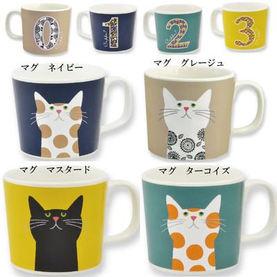【Cat Cuppa?】ネコ フローラルマグ