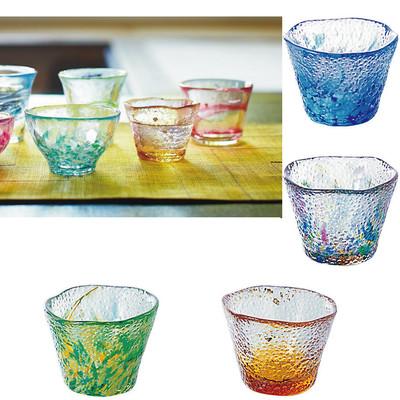 【津軽びいどろ・・日本の美しいガラス器】御祝いにも 盃2
