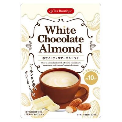 【Tea Boutiqueティーブティック】インスタント ホワイトチョコアーモンドラテ 日本緑茶センター