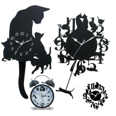【人気のネコちゃん♪振り子時計】振り子時計 ネコL