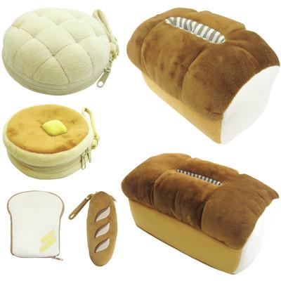 【ふわふわ美味しそうなパンがいっぱい♪】ティッシュカバー&スマホスタンド&ポーチ&ペンポーチ