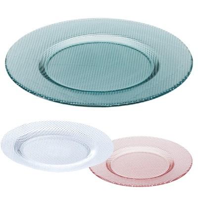 【KOUSHI】ハンドメイドのシンプルプレート クリア&グリーン&ピンク