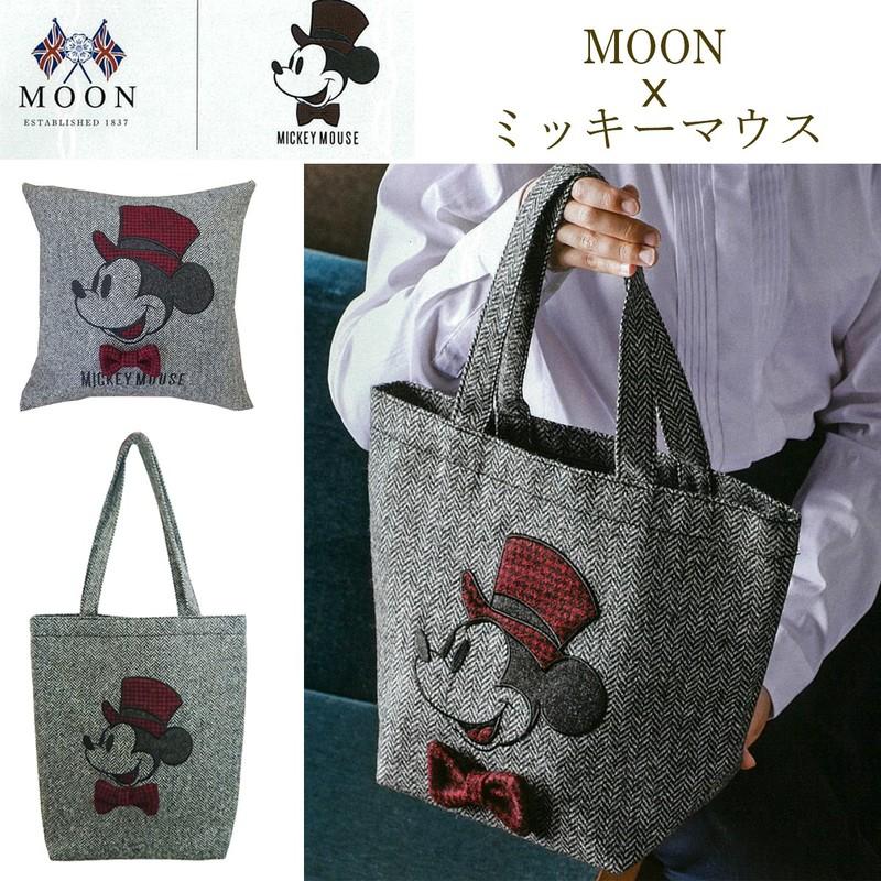 【MOON社とのコラボ商品】MOON×ミッキーマウス ビッグハットトートバッグ&クッションカバー