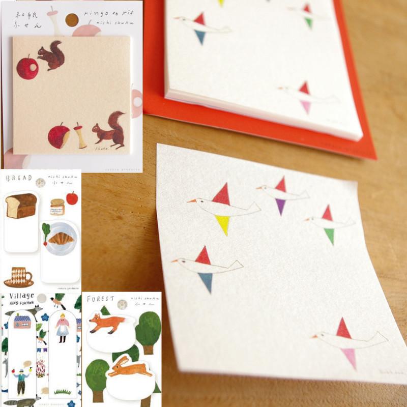 【cozyca products】美濃和紙のかわいい付箋 Subikiawa&西淑&AikoFukawa