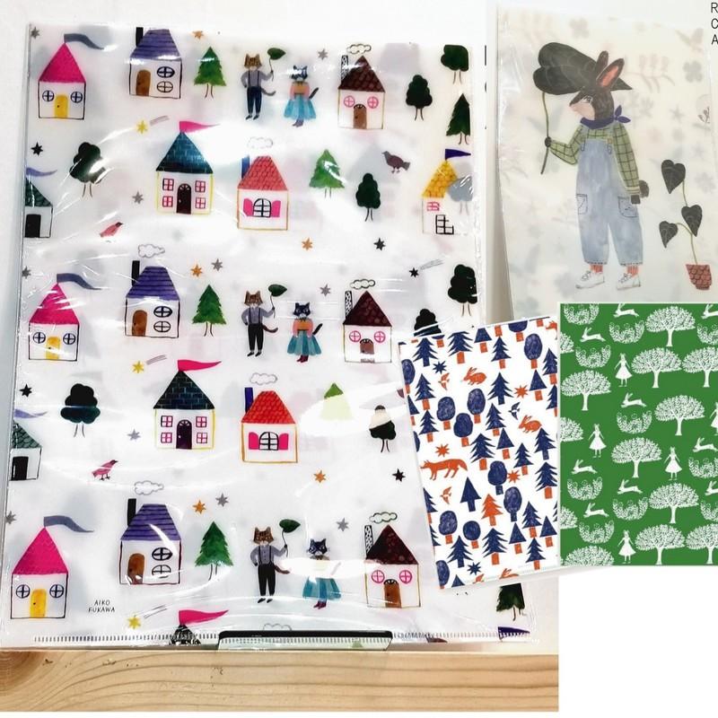 【cozyca products】Aiko FukawaA4クリアファイル